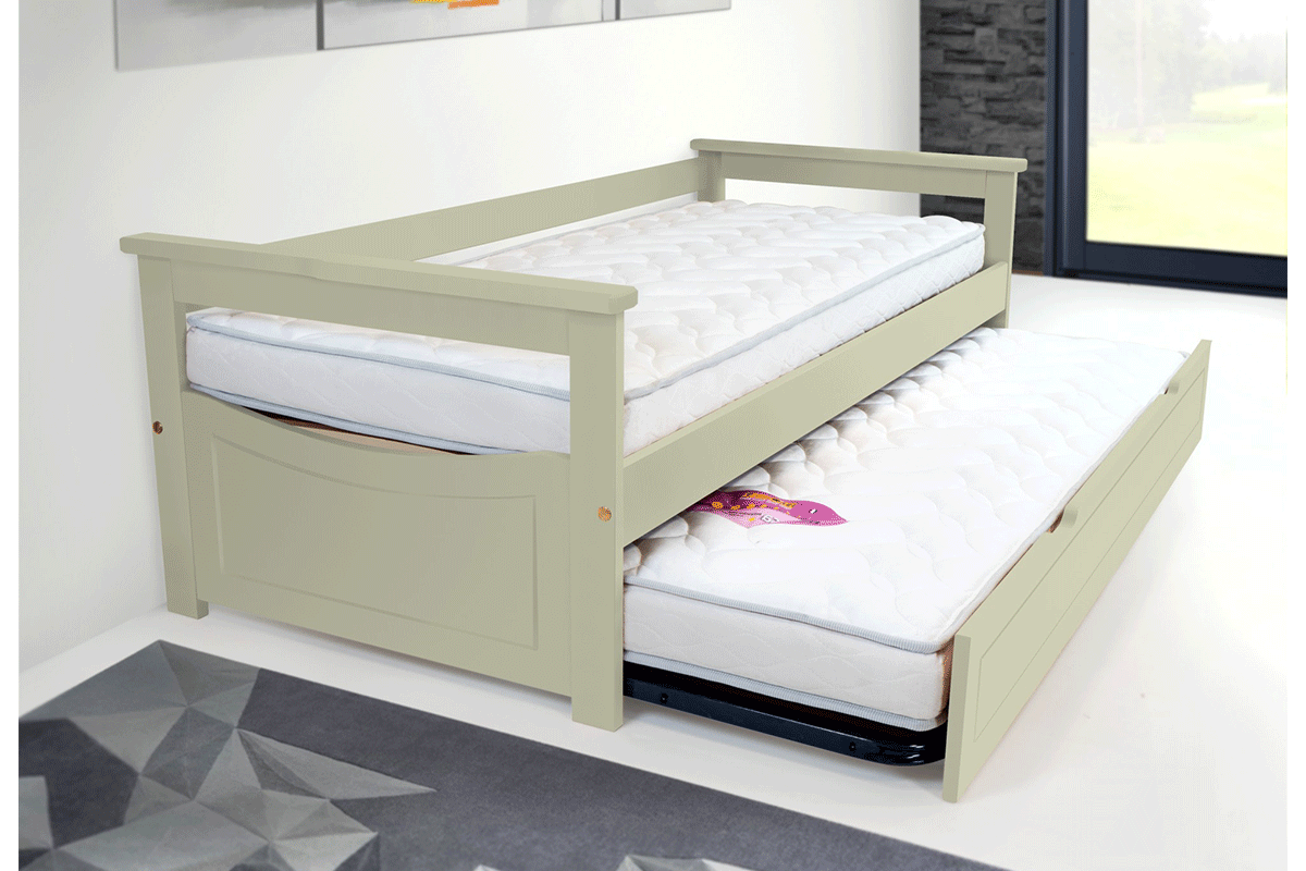 Pull Out Bed 80×190 Cm + 2 Mattresses Abc Meubles