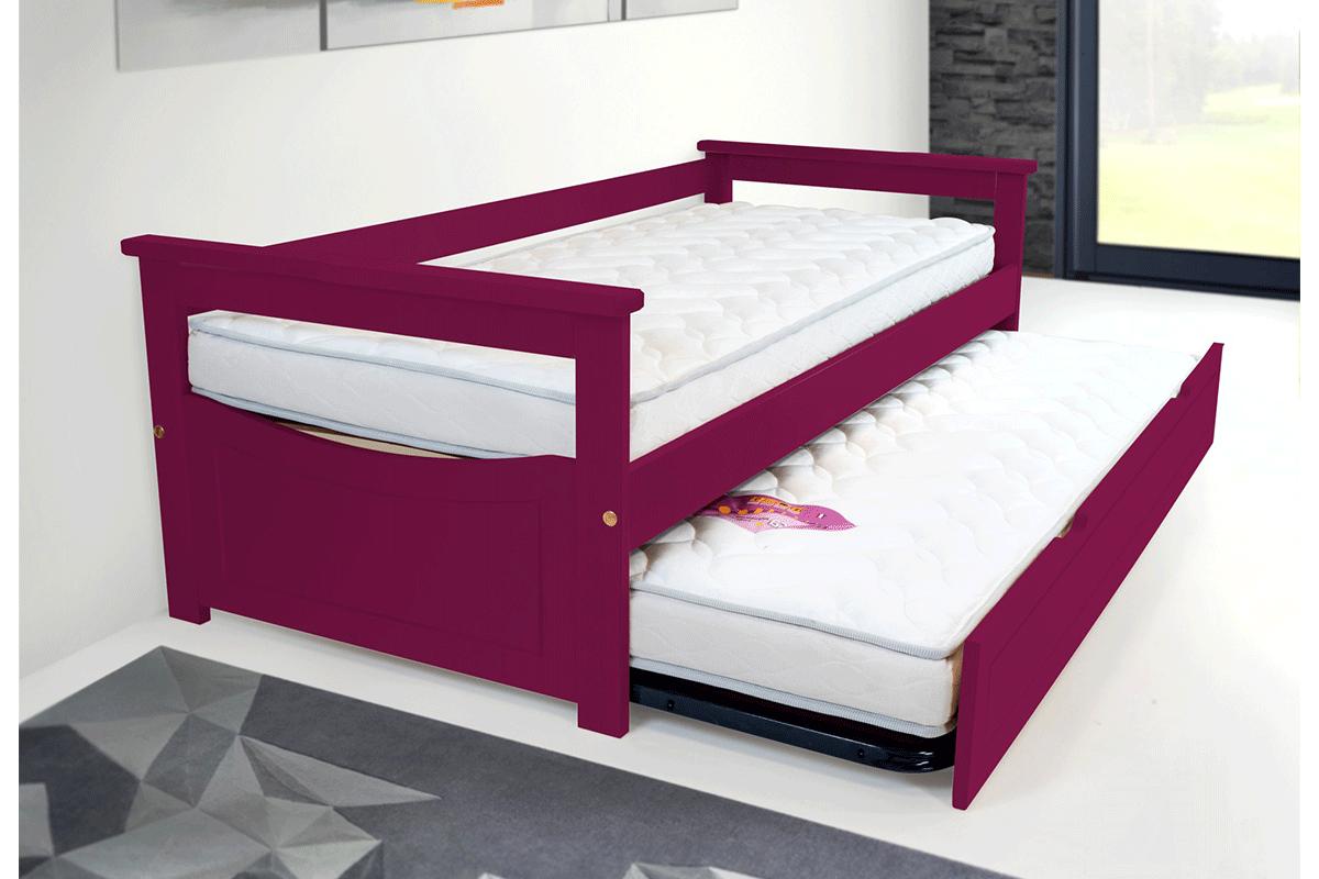 Cama nido topaze pino macizo abc meubles for Dimensiones cama nido