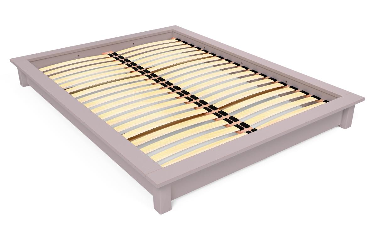Lit futon solido en bois massif 2 places abc meubles for Lit bois massif