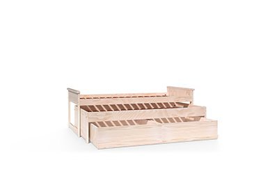 Wooden trundle bed