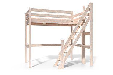 Wooden Mezzanine Bed