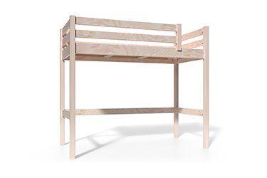 Halbhochbett aus Holz für Kinder
