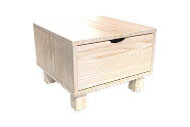 Cómoda de madera y mesita de noche
