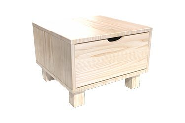 Wooden chest of drawers & bedside tables