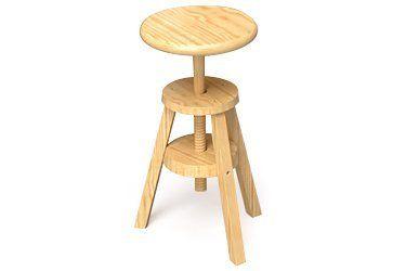 Sgabello legno