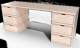 escritorio grande de madera cubo