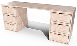 grand bureau cube bois