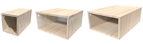 cubo de almacenamiento de madera
