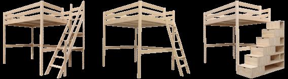 Sylvia wood loft bed