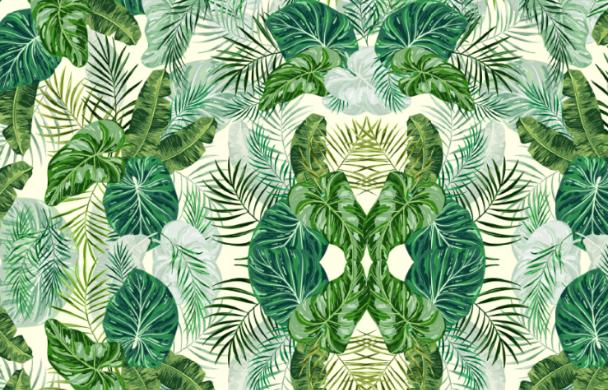 Tropisches Dekor